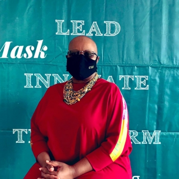 Our Vice Chancellor Dr. Rose Clarke Nanyonga launches the i-Mask campaign